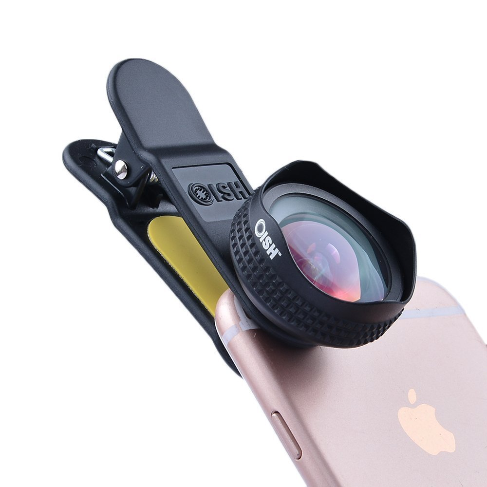 promo code e3409 db5c6 OISH 18mm Wide Angle Cellphone Camera Lens for iPhone and Samsung Android  Phones